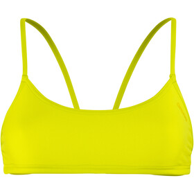 arena Play Bandeau Top Kobiety, soft green-yellow star
